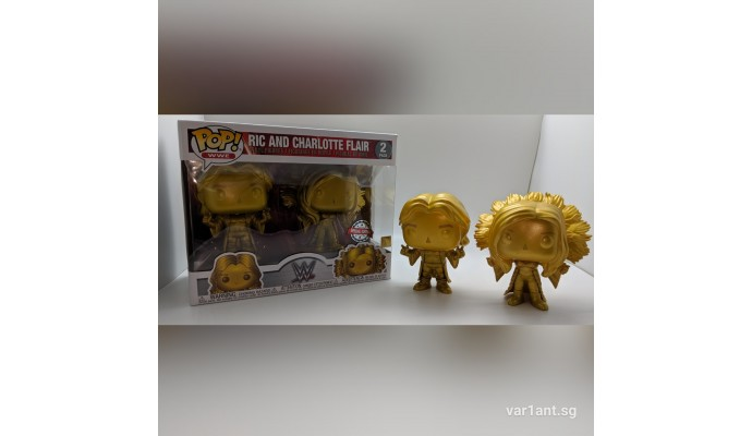 POP WWE: Ric and Charlotte Flair Gold 2 Pack EX Vinyl Figure